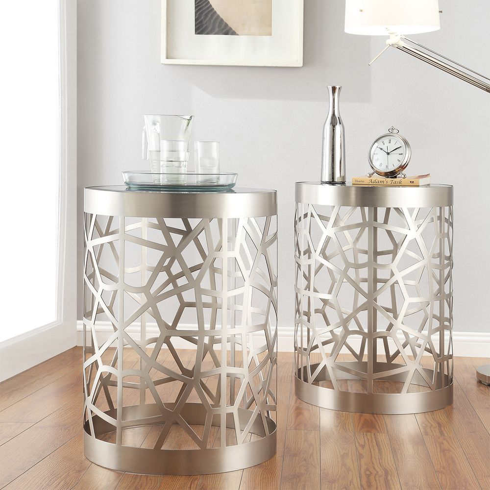the functional yet refined style this side table defined accent definition its exquisite curving base and glass top which make striking piece mosaic bistro outdoor beach themed