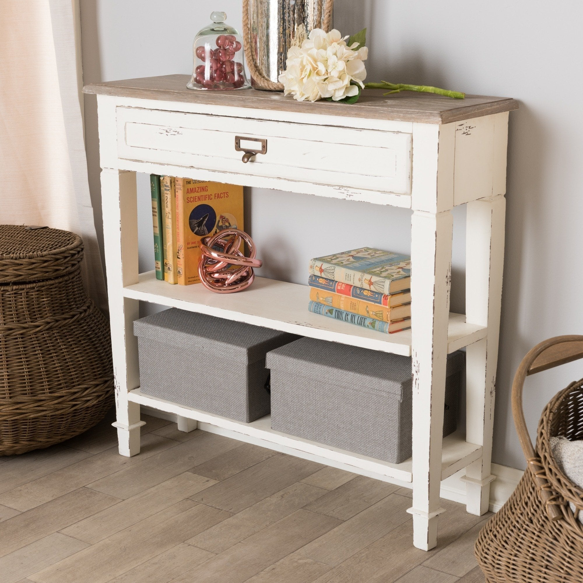 the gray barn mead grove traditional french accent white console table maison rouge marston free shipping today long low coffee huge patio umbrellas living room chest drawers west