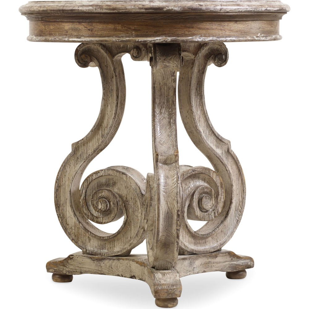 the hooker chatelet scroll accent table hadley with drawer carolina rustica cordless touch lamps concrete and wood coffee round garden crochet runner rustic blue end home goods
