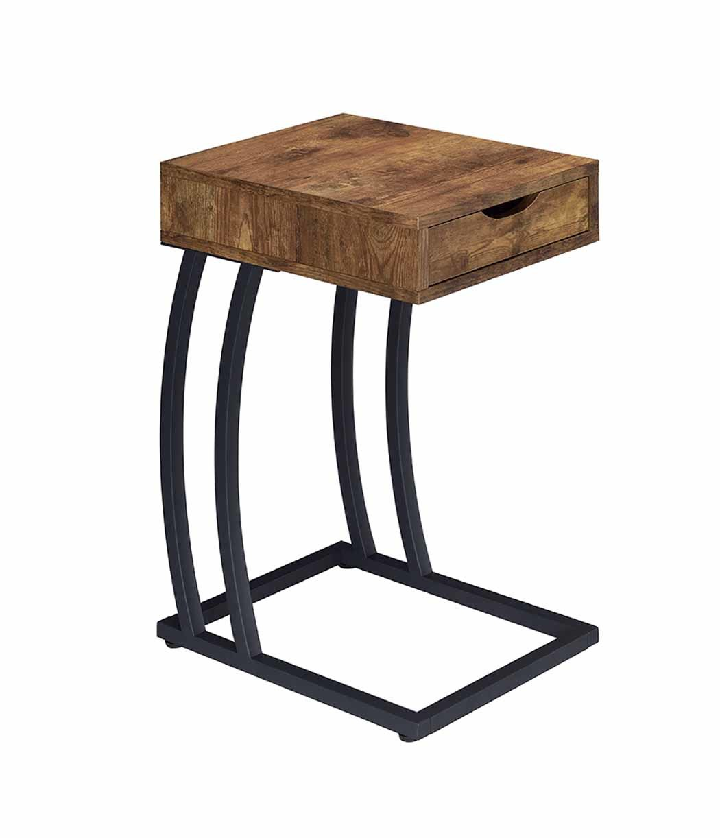 the industrial antique nutmeg accent table available mike floor length mirror white wine rack inch bedside lucite cube lamp with usb port coffee inexpensive round tablecloths