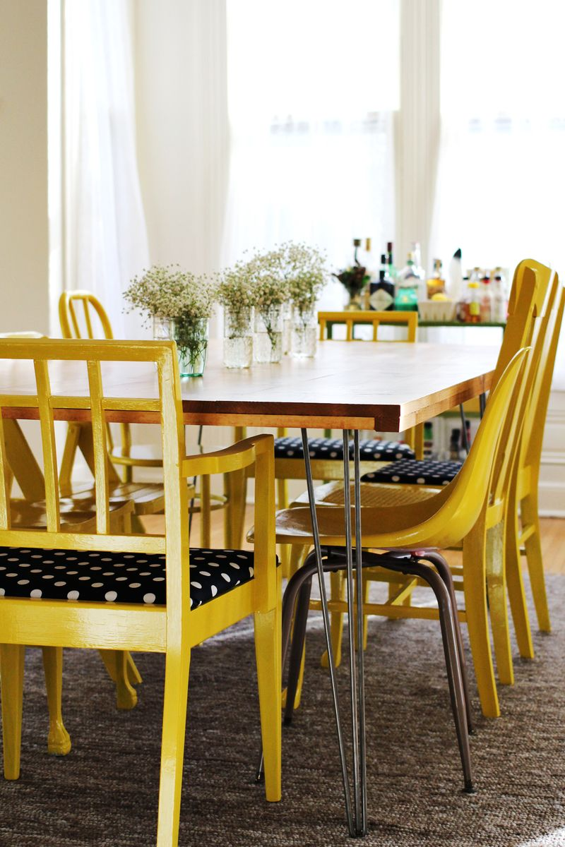 the key chic diy furniture set hairpin legs yellow dining room accents accent pieces for table thin white console ashley kitchen wood tripod lamp dark cherry ethan allen buffet