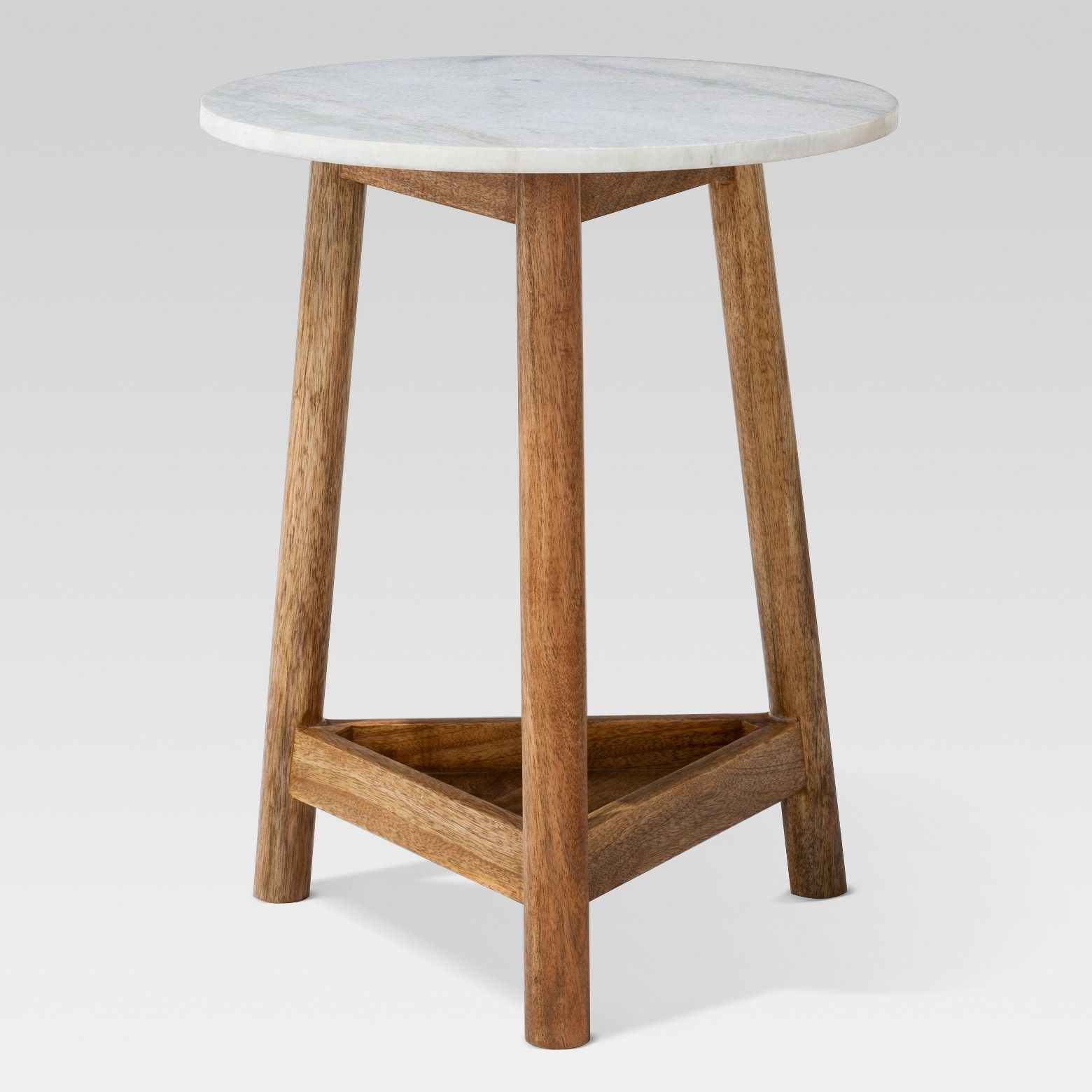 the lanham marble top side table from threshold has beautiful round accent blend mango wood and reg patchwork rug nautical flush mount light small glass blue ginger jar lamps