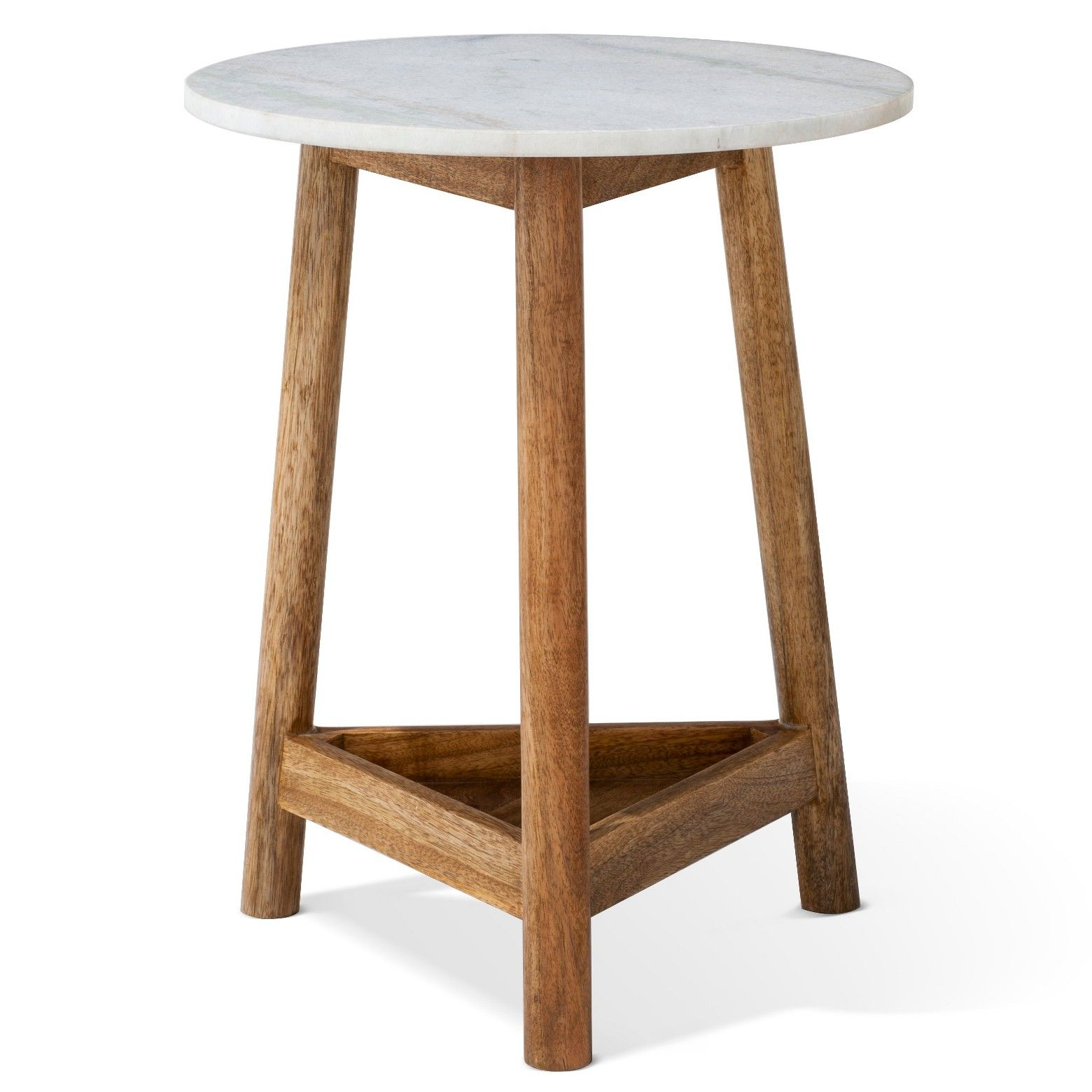 the lanham marble top side table from threshold has beautiful wood accent blend mango and tripod wooden base with shelf cube furniture fabric storage cubes ikea ashley end tables