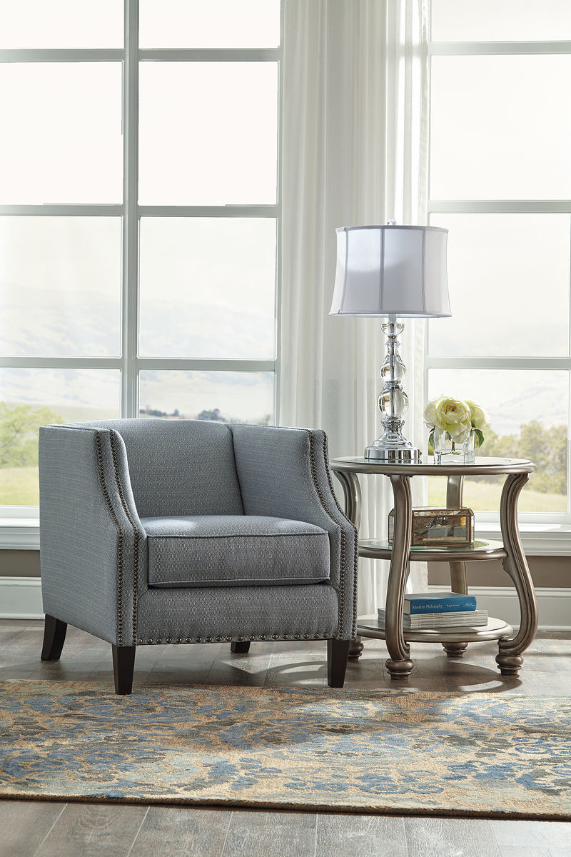 the lavernia navy accent chair available direct value furniture chairs with table reclaimed wood clearance kitchen decorative stands for living room cocktail metal half moon