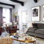 the living room rules you should know emily henderson brady tolbert design eclectic pavillion grey farrow and ball brass coffee table english roll arm albini masculine traditional 150x150