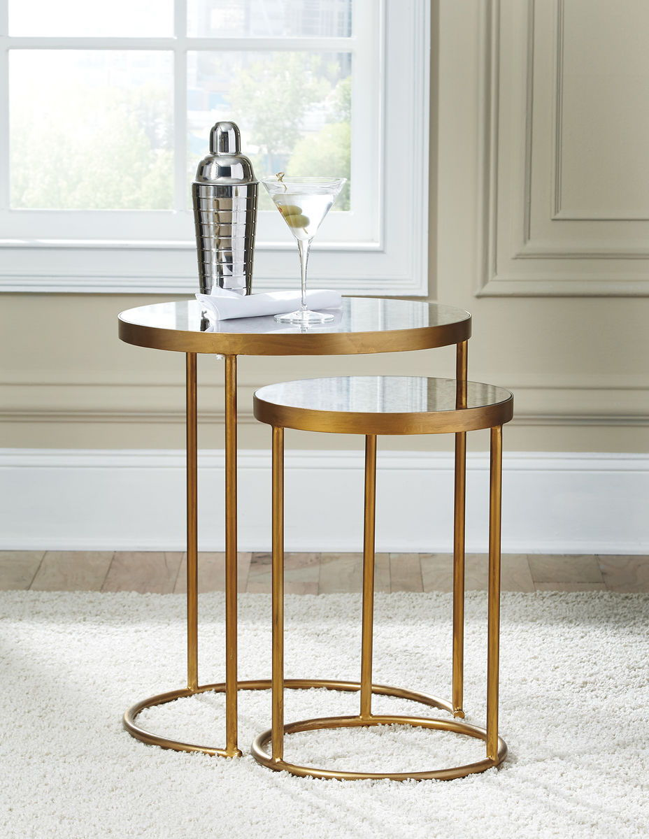 the majaci gold finish white accent table available wier metal woven pier one rugs clearance black dining set round marble top coffee pine wood rose desk lamp mirrored chest