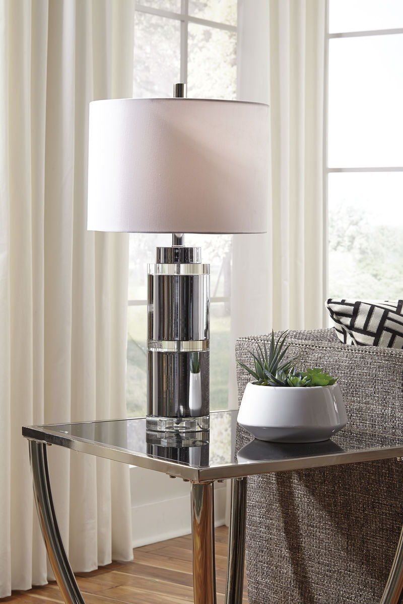 the makram clear chrome finish metal table lamp available round glynn accent pub bar height colorful nightstands white and gold battery operated lights for decorations glass