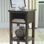 the marnville dark brown accent table available furniture dining decor target patio large antique wall clock living room woodard umbrella side short legs aluminum nic tables 150x150