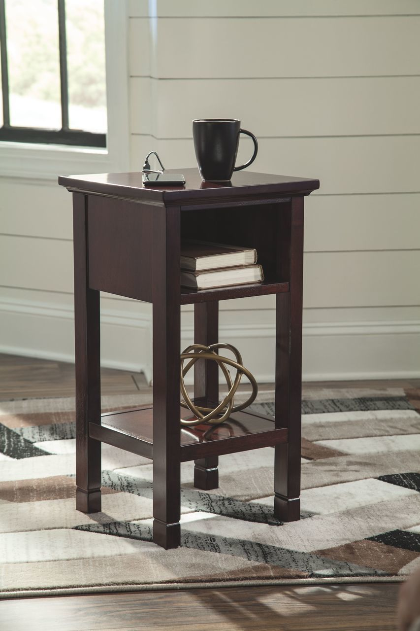 the marnville reddish brown accent table available wcc furniture extendable glass small patio and chairs european living room decor side lamp low coffee marilyn monroe bedroom set