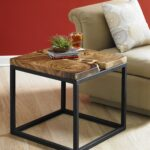 the martin side table displays stunning chamcha wood metal base furniture accent juxtaposition elements highlights woods natural characteristics occasional tables drum throne for 150x150