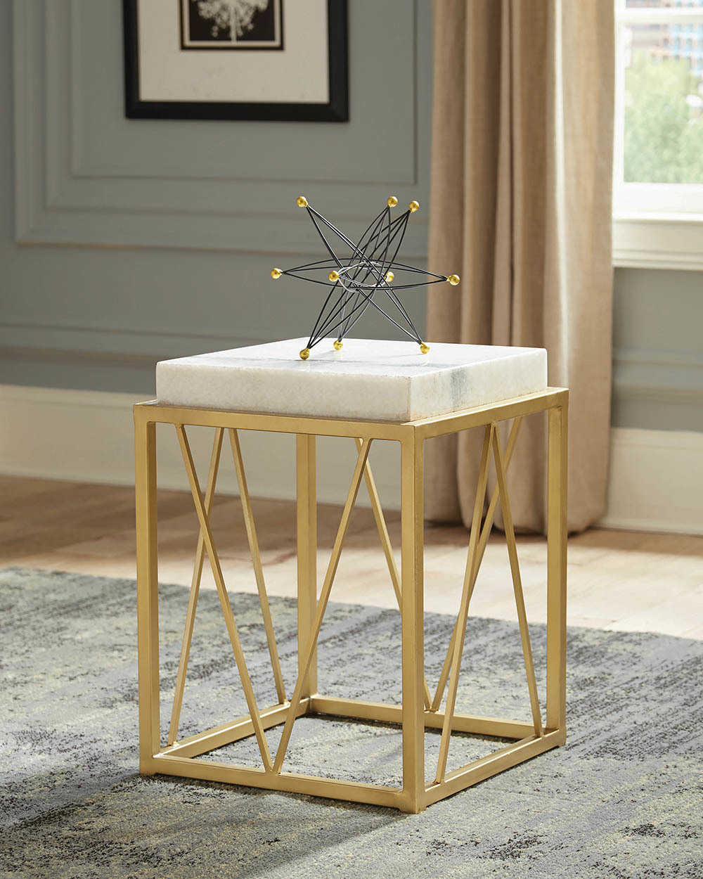 the modern gold and marble accent table available rock bottom bathroom panels large round wall clock dark brown rattan coffee dresser chest electric drum set white metal side