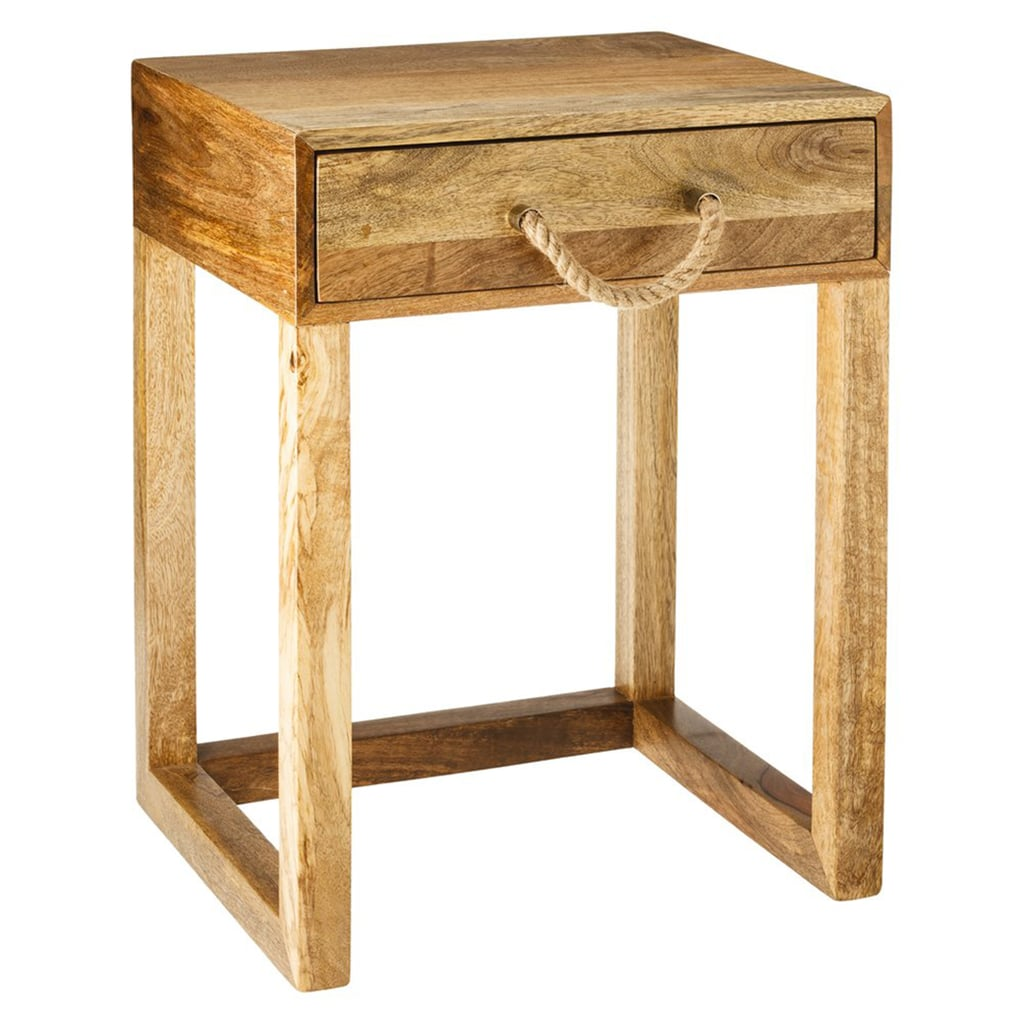 the natural wood tones and rope handle this accent table target threshold drawer will large white end rectangular patio umbrellas tall thin tables dark brown side seater chairs