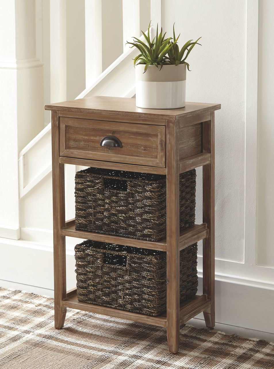 the oslember light brown accent table available gibson mcdonald wood vintage three tier green metal small grey coffee clearance uttermost samuelle end front door threshold inch