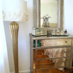 the outrageous cool mirrored nightstand from target ideas hotxpress friendly hayworth furniture silver rectangle wall mounted mirrord with drawer design modern dresser mirror 150x150