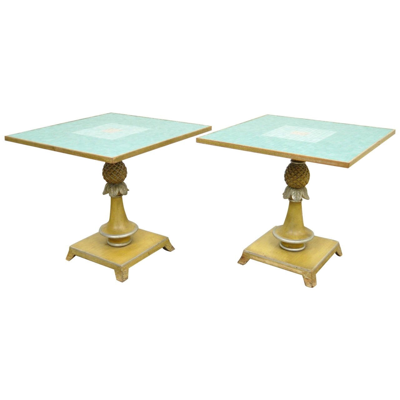 the outrageous great pineapple end table gallery jockboymusic vintage gilded accent for pair italian carved wood mosaic tile top form tables steve silver company coffee mission