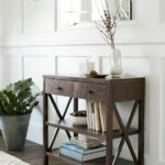 the owings console table with shelves from threshold perfect accent addition your nautical bathroom ceiling light coastal style lighting oversized wall clock designer end tables 150x150