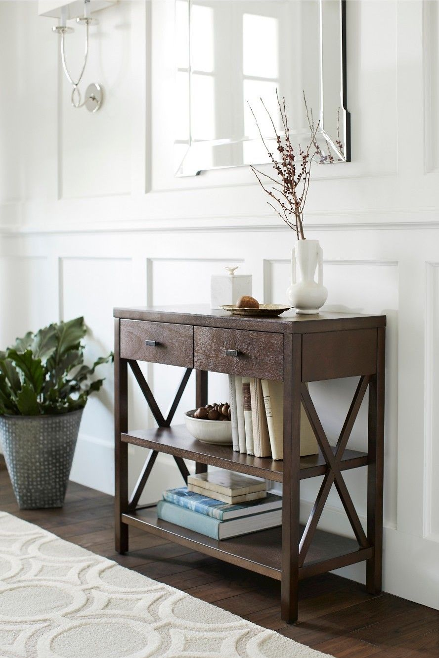 the owings console table with shelves from threshold perfect accent addition your nautical bathroom ceiling light coastal style lighting oversized wall clock designer end tables