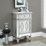 the perfect cool mirrored glass accent table with drawer tures end tables tabless furniture single brushed surprise from side for tall corner square mirror drawers very full size 150x150
