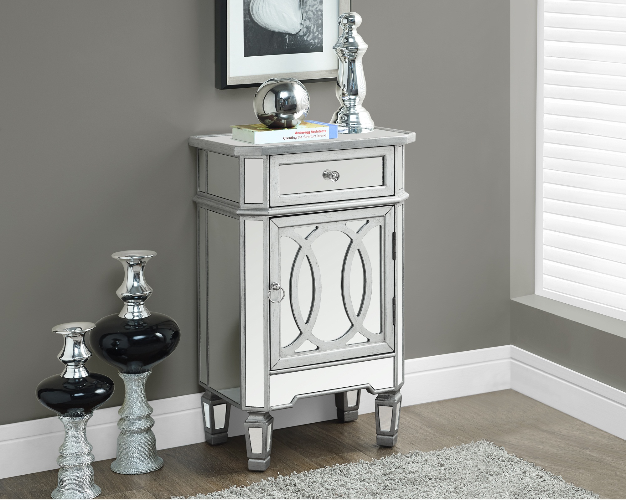 the perfect cool mirrored glass accent table with drawer tures end tables tabless furniture single brushed surprise from side for tall corner square mirror drawers very full size