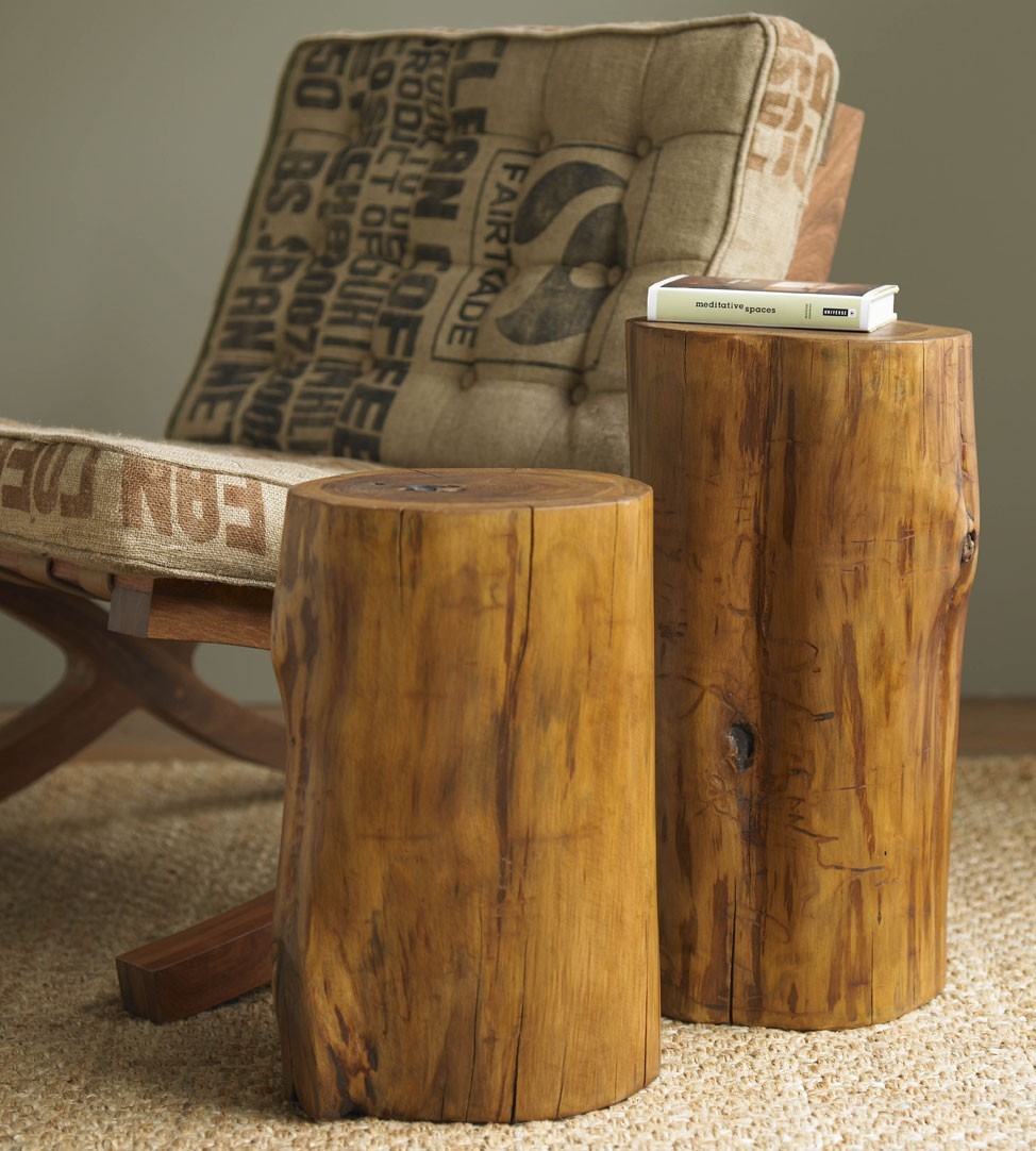 the perfect great log stump end table mira road furniture breathtaking home ideas using cylinder brown divine designs tree tables and rectangular rugs also with wooden folding