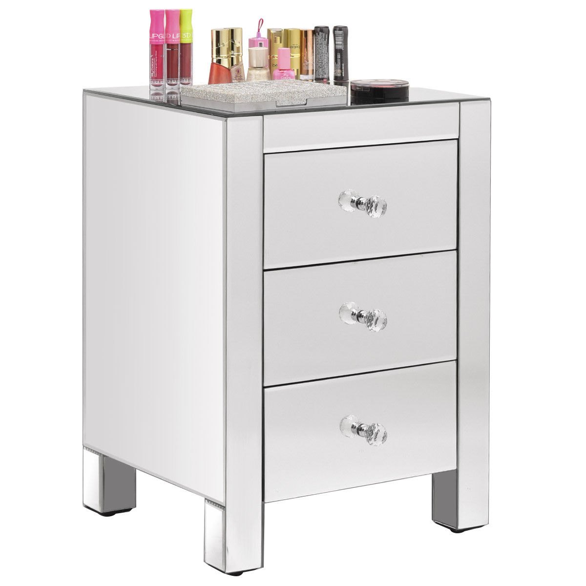 the perfect real mirrored nightstand modern gallery hotxpress way rakuten drawer mirror end table storage accent cabinet small thin bedside designer floor lamps folding kitchen