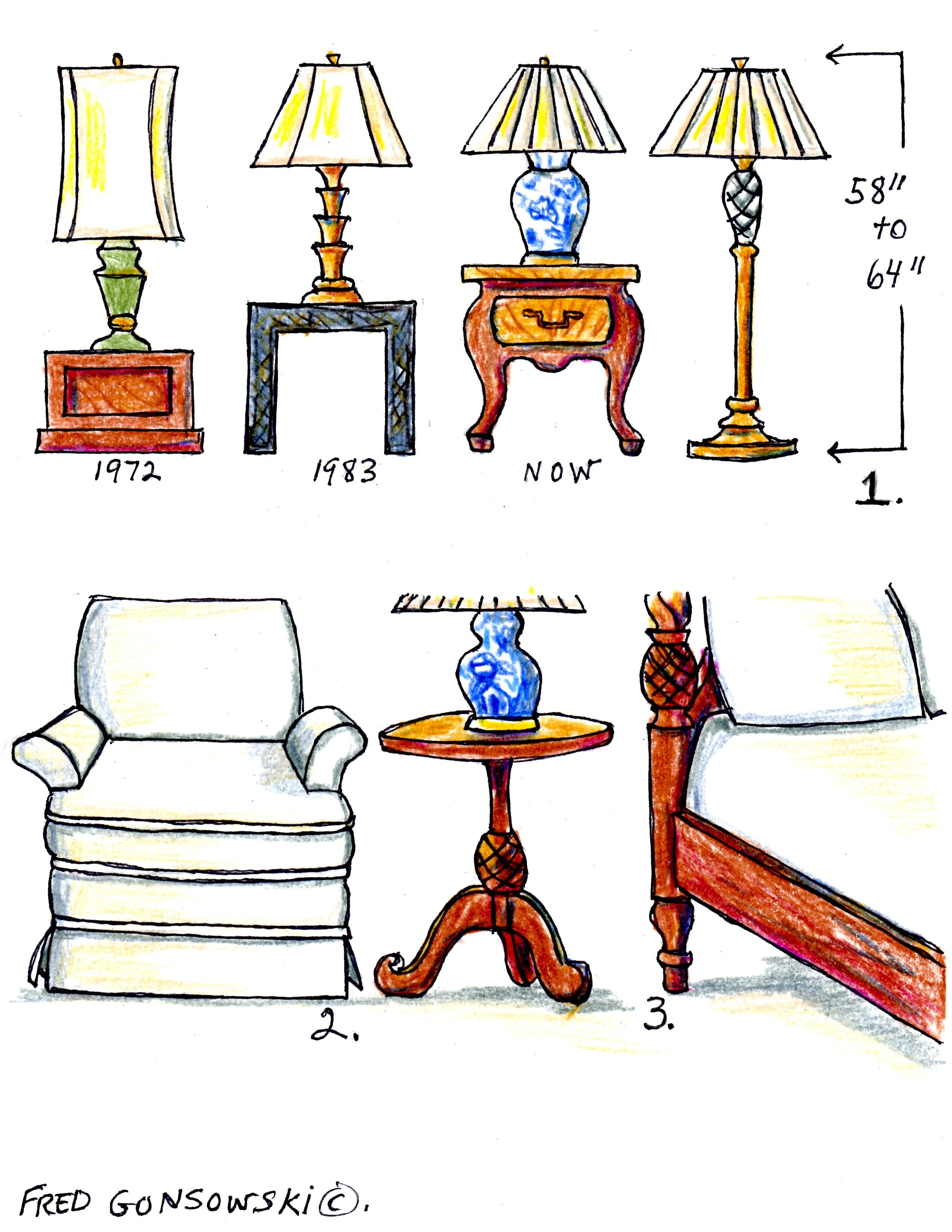 the right height for lamps and end tables decorating tips tricks low accent table large white coffee folding stool target entry benches furniture backyard gazebo iron company pub