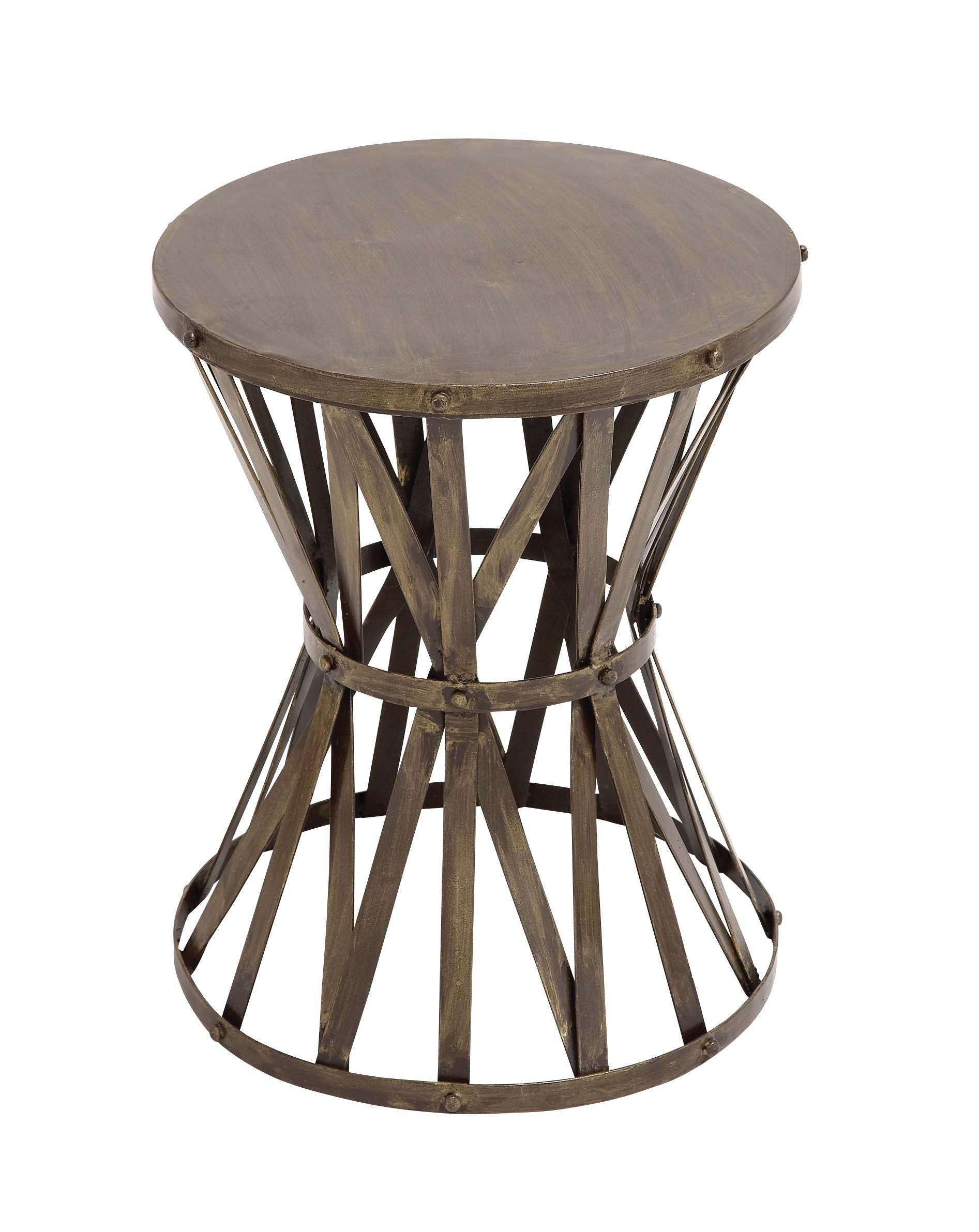 the rustic metal accent stool products accents table half circle hall round wood coffee with glass top cool bar cooler vintage lucite ikea lack bedroom light shades house