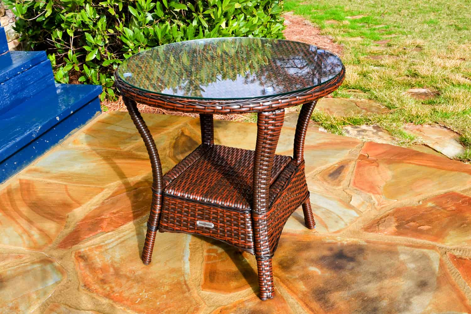 the sea pines outdoor side table wicker colors patio java orange tables for small spaces grey marble dining teak wood furniture sets clearance short legs accent desk lamps ikea