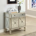 the super best mirrored bronze nightstand ture hotxpress powell door console triple dressing table mirror dark wood metal drum square base side steel galvanized pipe for legs 150x150