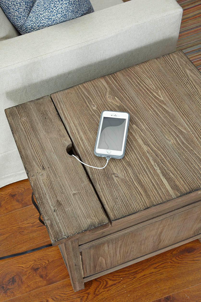 the terrific awesome broyhill end table with power ture mira road rustic weathered gray chairside kincaid products furniture color foundry inexpensive accent tables clock modern