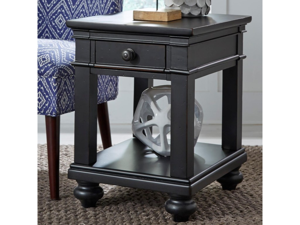 the terrific awesome oxford one drawer end table mira road aspenhome chairside with turned feet products color blk setting queen anne wing chair light oak accent tables ashley