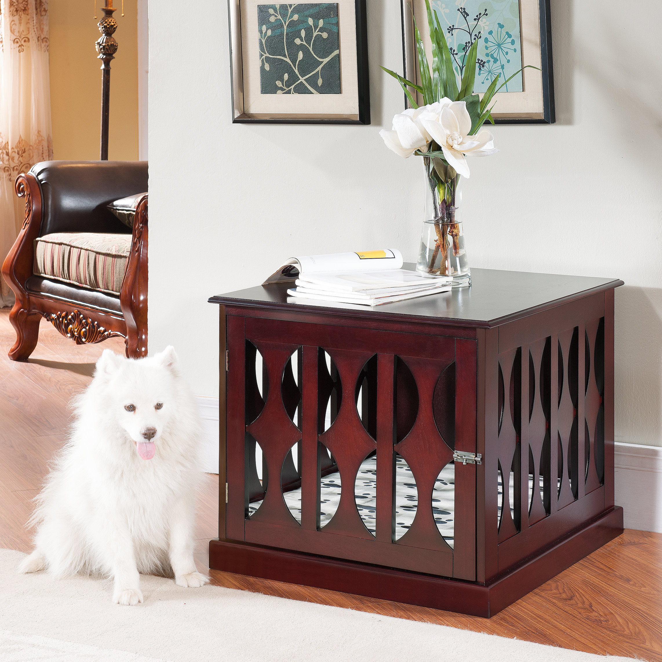 the terrific fun ecoflex pet crate end table large mira road archie oscar claudia reviews log side activity tray with raised edge kohls department gold accent vintage credenza