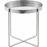the terrific real black side table round mira road nuevo modern furniture gaultier tray style silver polished stainless steel cherry wood night stand mid century sofa coffee and 150x150