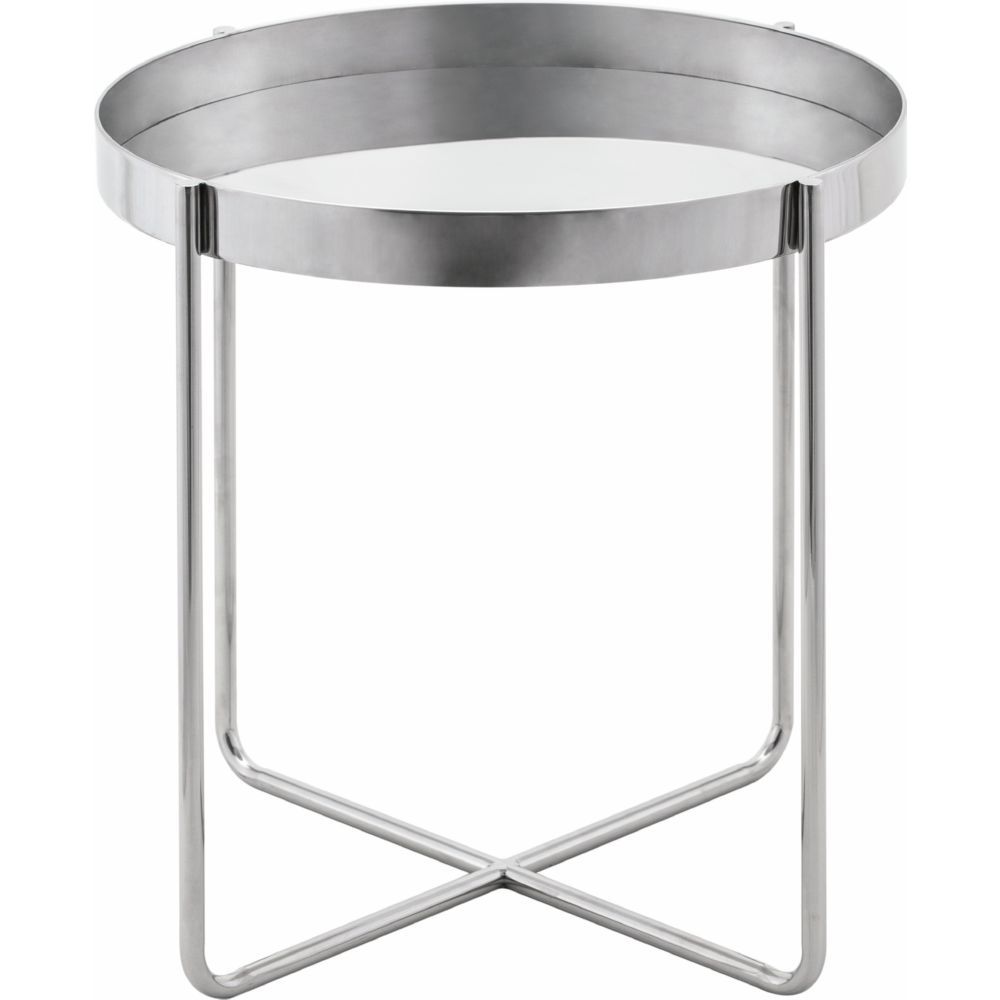 the terrific real black side table round mira road nuevo modern furniture gaultier tray style silver polished stainless steel cherry wood night stand mid century sofa coffee and