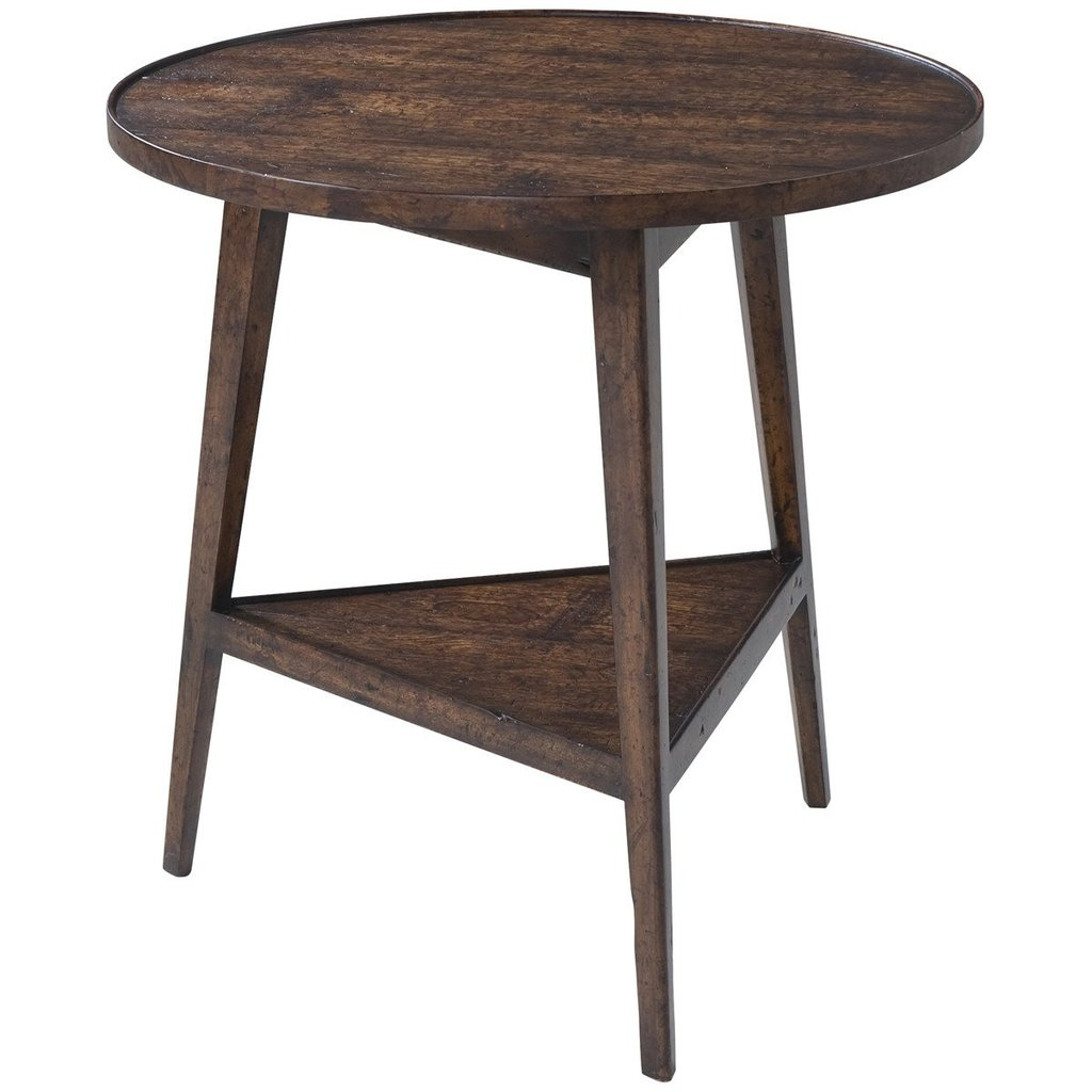 theodore alexander accent table brown round victory oak benjamin rugs furniture red linen tablecloth barnwood kitchen home hardware modern runner target threshold cabinet shallow