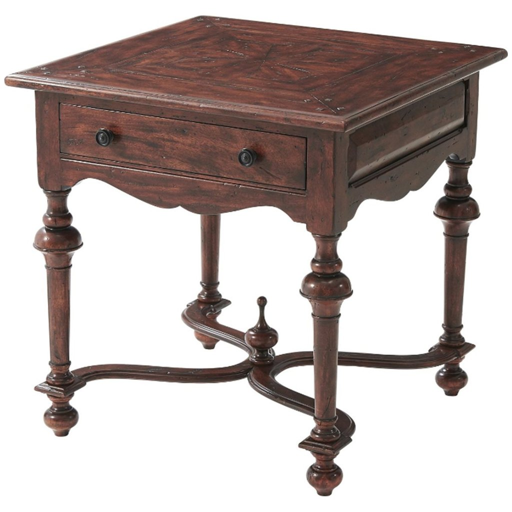 theodore alexander accent tables bronze square castle bromwich table benjamin rugs furniture pulaski corner curio cabinet coffee with drawers ikea simple dining room chairs modern