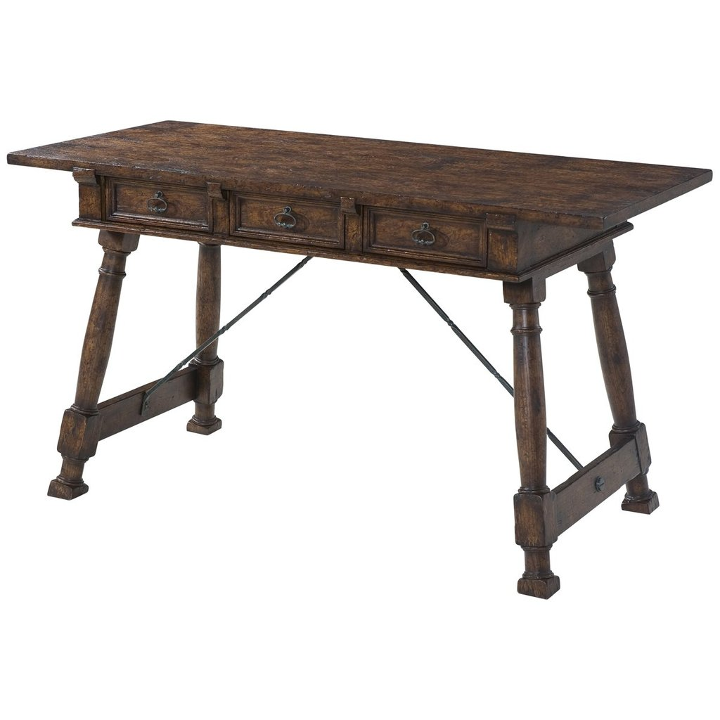 theodore alexander accent tables dark wood brown victory oak table benjamin rugs furniture room decor lights mini tiffany lamp ikea kitchen and chairs autumn tablecloth small pine