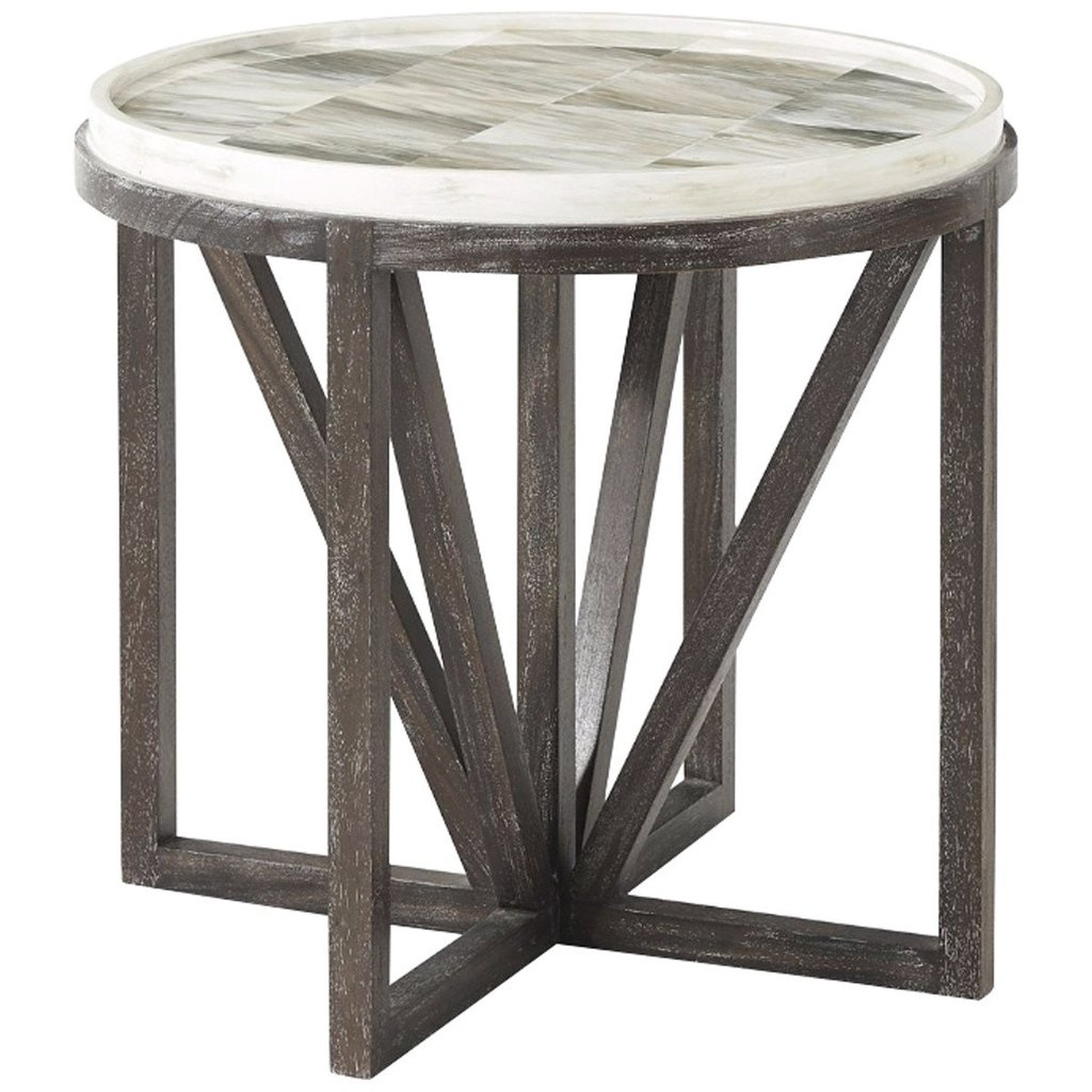 theodore alexander buda round accent table tables small furniture benjamin rugs metal transition strips pier one credit card login outside patio cover sofa lamps mersman best