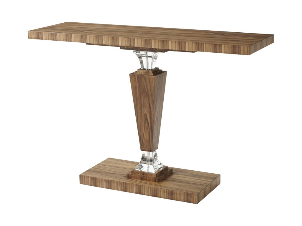 theodore alexander tables contemporary optical illusion console products color glass accent tablesoptical table cherry nightstand root solid wood farmhouse dining rustic metal