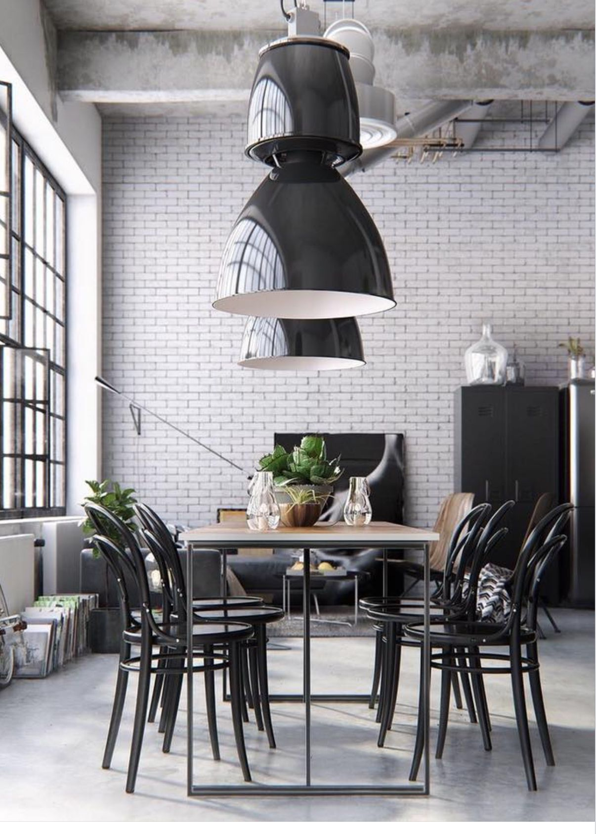 these big hanging table lights are the accent piece this dining pieces for room area corner desks home studded chairs grey counter height sofa hall chest target gold coffee diy