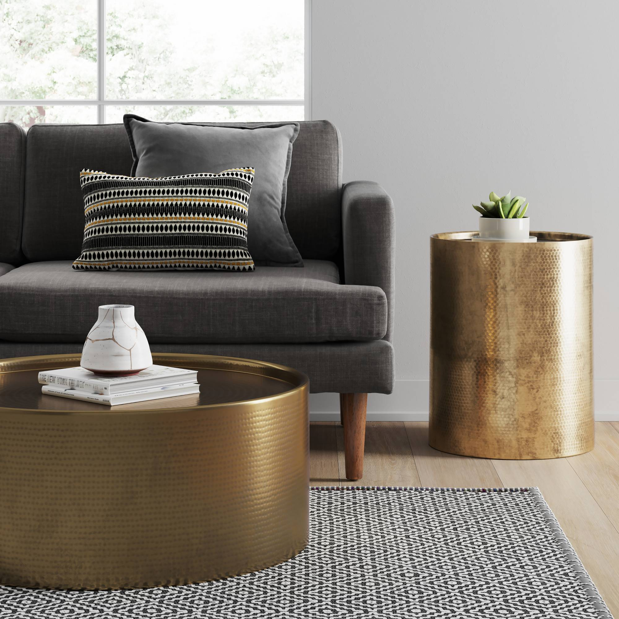 these items from target new home decor line make your place manila cylinder drum accent table brass ikea occasional contemporary silver lamps wicker outdoor furniture bunnings