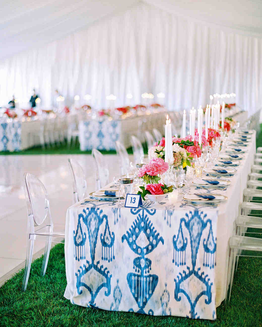 these statement linens will take your wedding reception the next jose villa vert artistic accents tablecloth level martha stewart weddings target corner desk nautical vanity