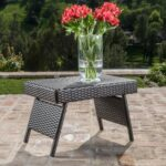 thira outdoor aluminum wicker accent table christopher knight home free shipping today ashley furniture tables mirimyn teal pieces hoodie jacket pier one dining beach themed lamps 150x150