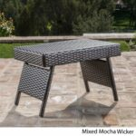 thira outdoor aluminum wicker accent table christopher knight home mixed material free shipping today patio beverage cooler side ikea coffee living room nest tables floor lamp 150x150