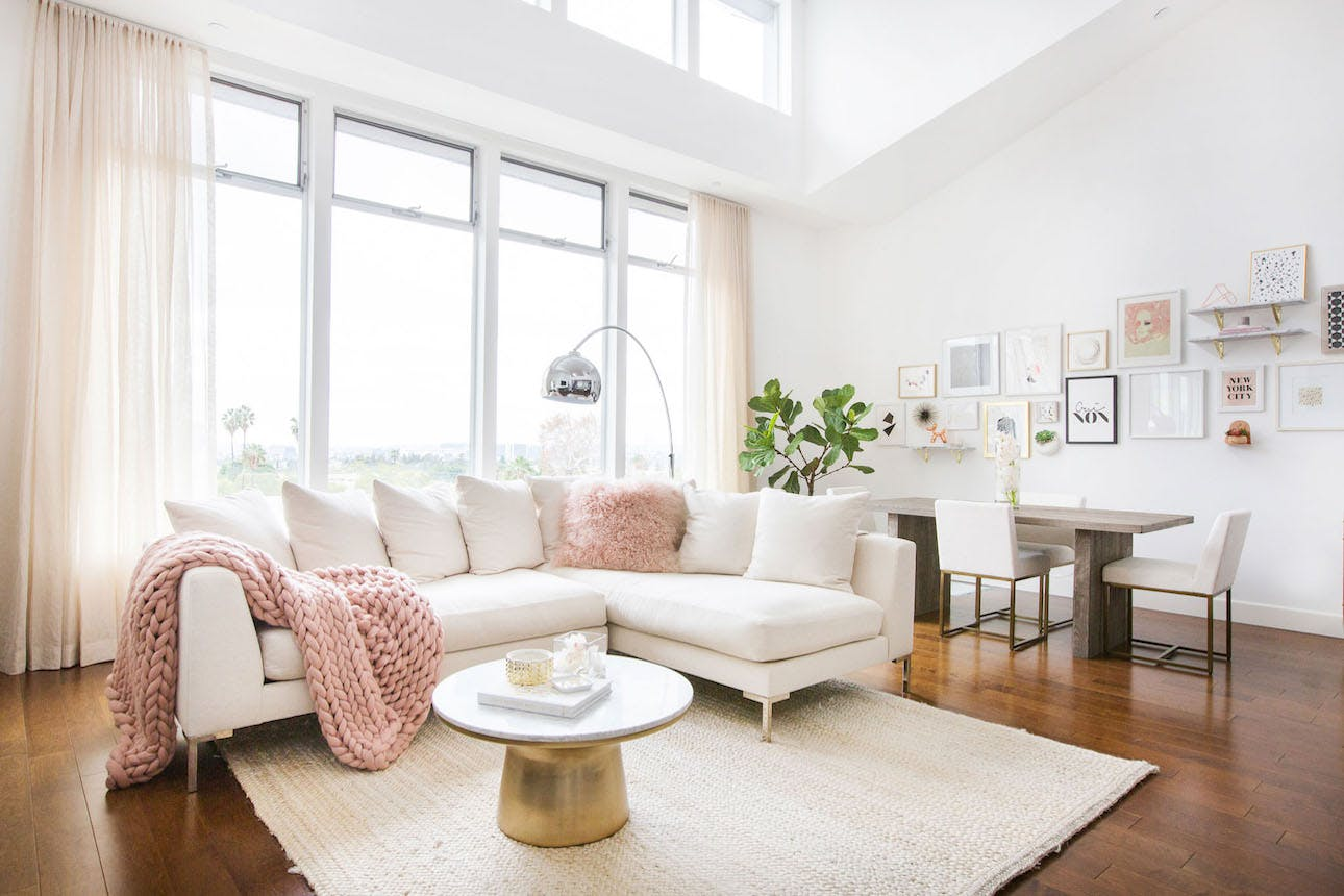 this fashion blogger blush pink living room totes darley accent table target worthy brit solid wood coffee with drawers reading mahogany side glass set bathroom decor ideas tall