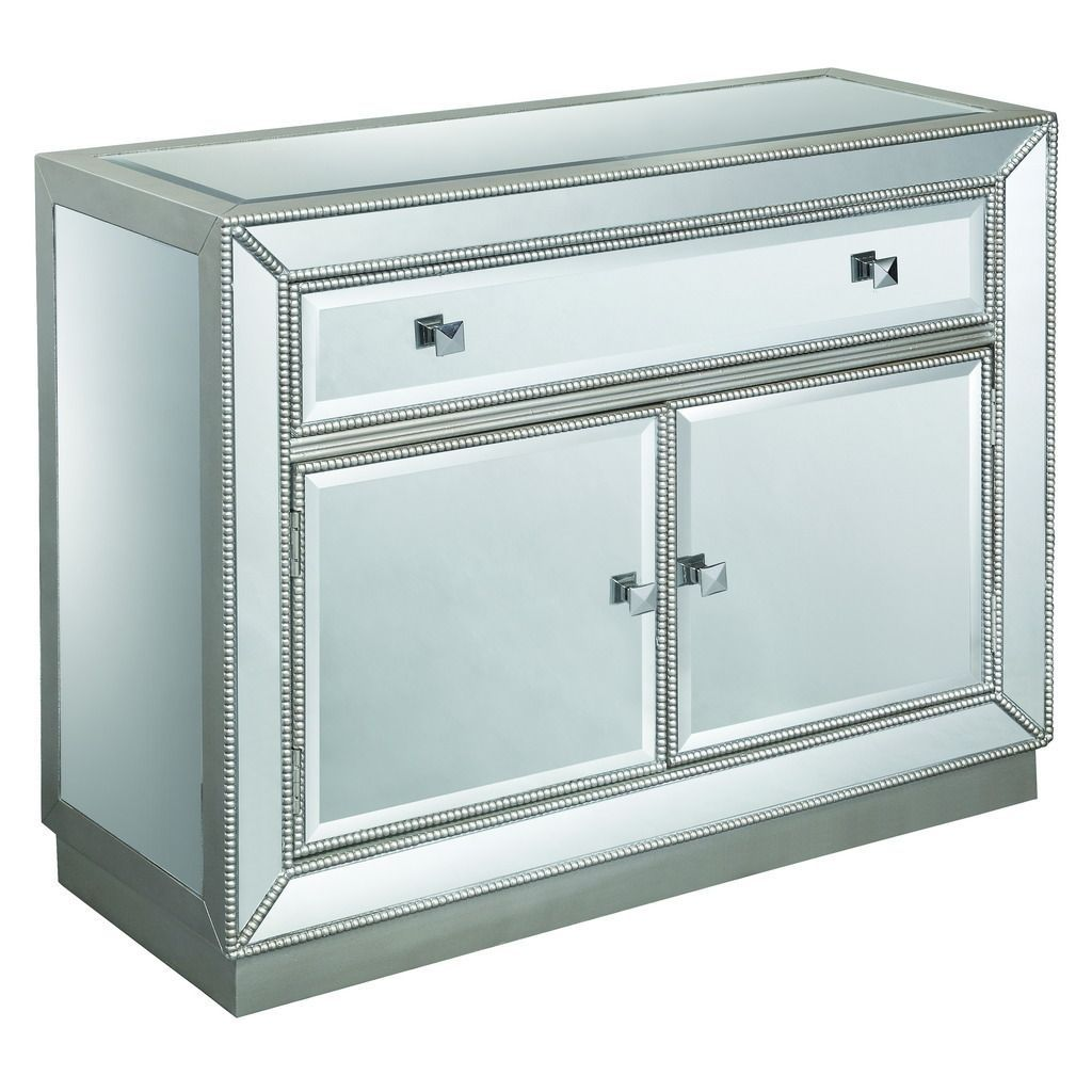 this one drawer and two door chest sophisticated stylish accent table with drawers doors coast treasure trove accents estaline silver mirror cabinet gold large marble dining beige