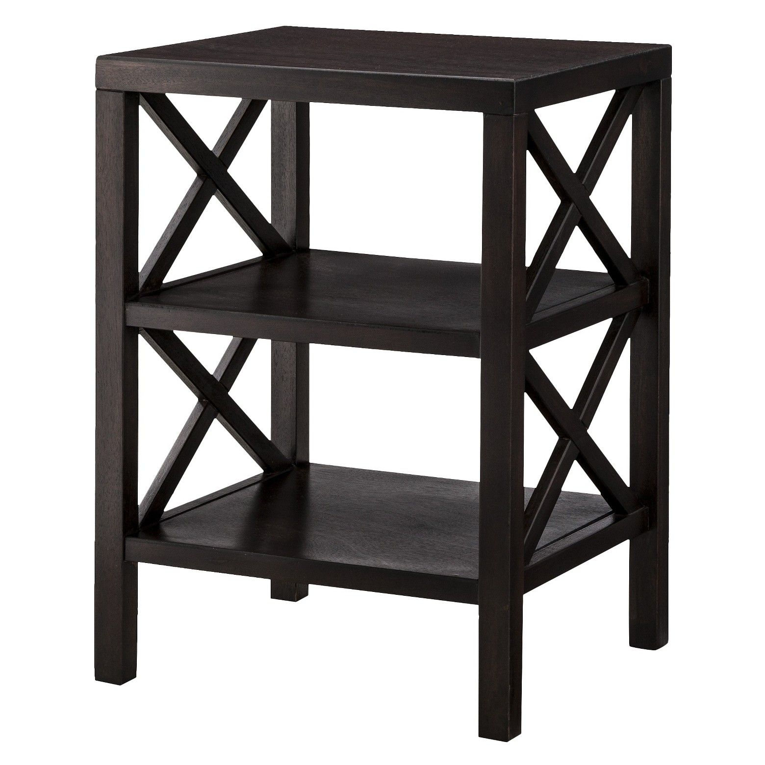 this owings end table with two shelves from threshold will look accent target great matter where you put your home apartment the side features wood green painted tables noguchi