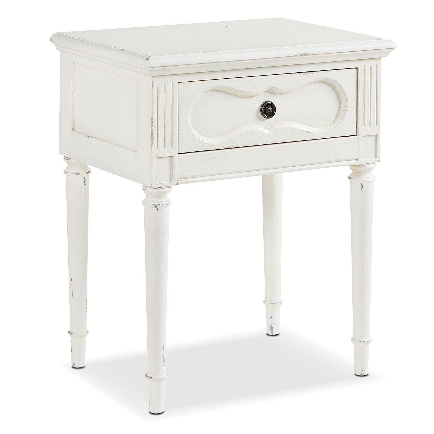 this vintage style french inspired cameo night table works for the threshold margate accent bedside wherever you need small drawer has curvy silhouette new home decor ideas square