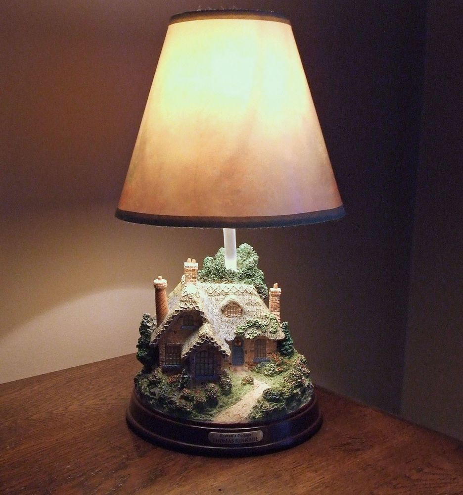 thomas kinkade everett cottage small accent table lamp tiny lamps end date thursday pdt now for only carpet door plates shades outdoor set legs telephone nesting and chair kids