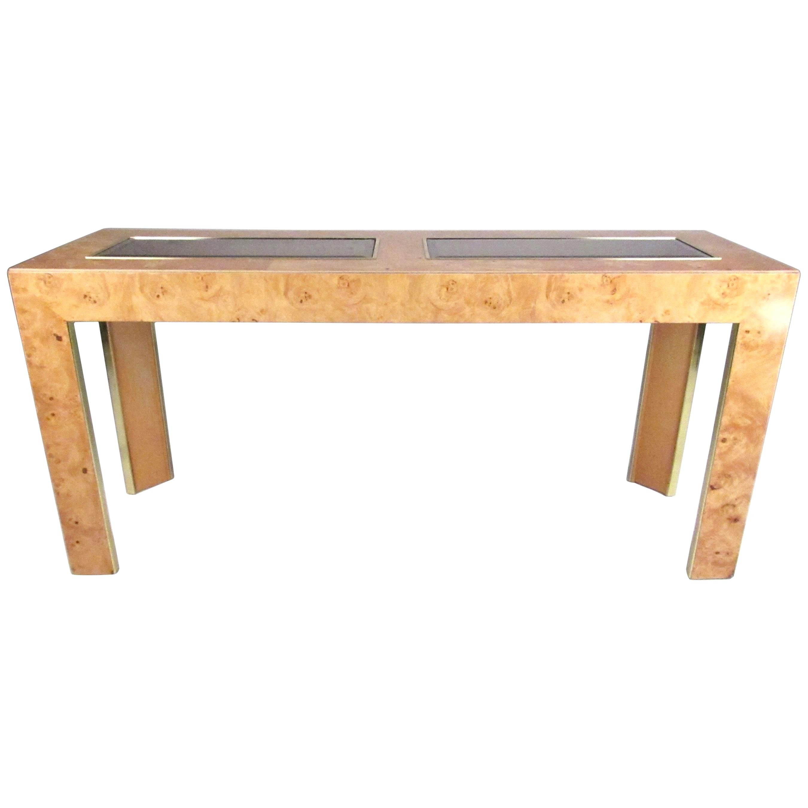 thomasville accent tables vintage modern burl wood console table nautical side parker furniture garden end large drop leaf dining laptop plastic outdoor with umbrella hole